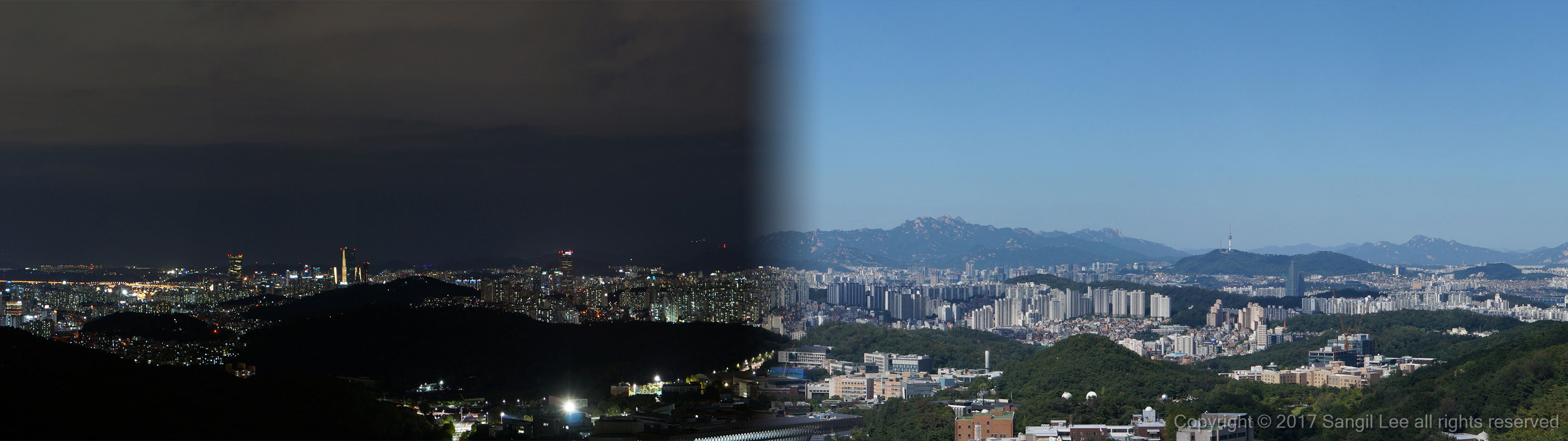 Seoul cityscape at Bldg. 301 in SNU